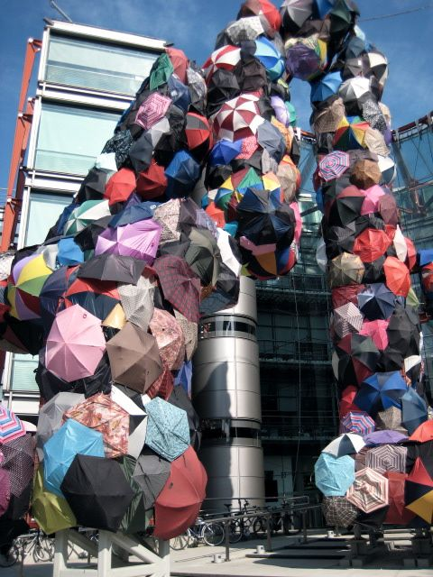 Umbrella sculpture, London