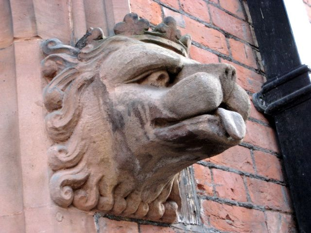 Detail at entrance of Drill Hall, London