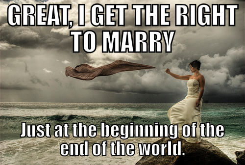 gay marriage end of world