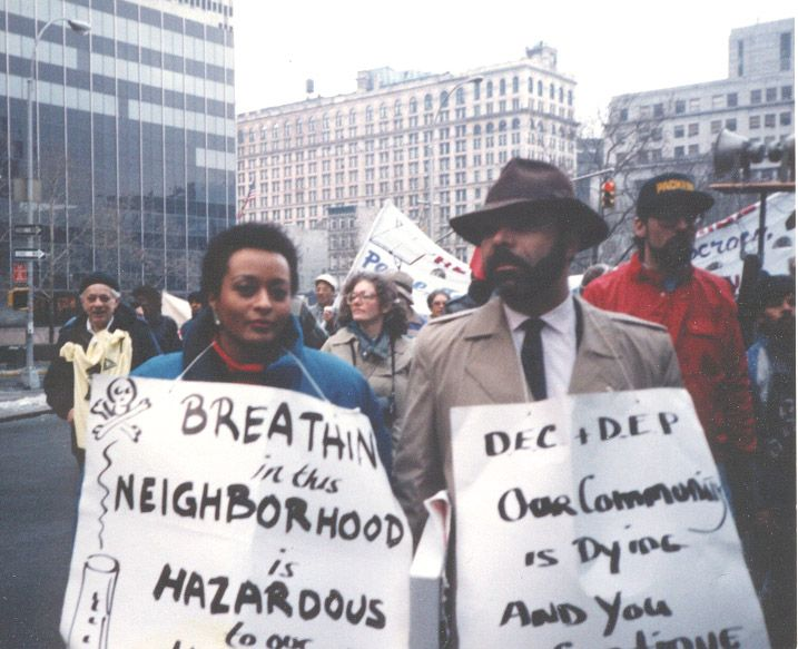 Peggy Shepard, Executive Director of WE ACT with Chuck Sutton one of the first protests