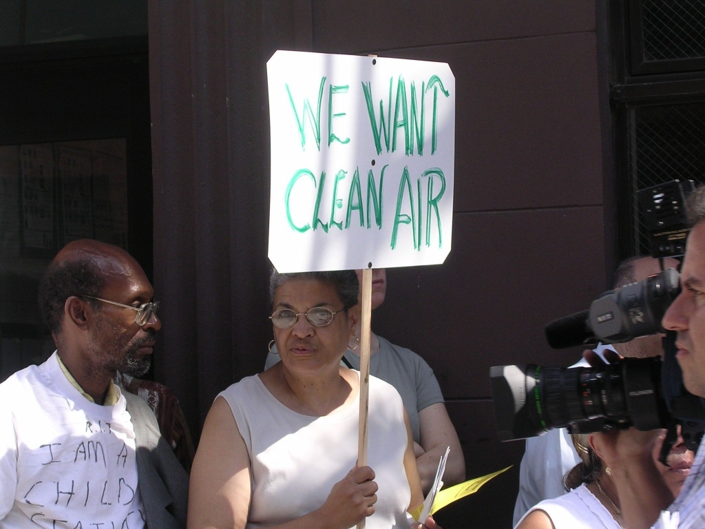 We Want Clean Air - Community Protest