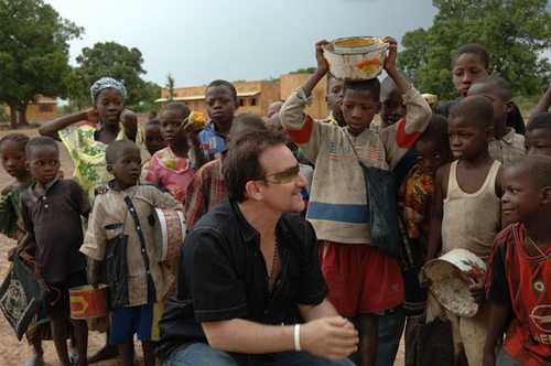 Bono and HIV/AIDS awareness in African countries