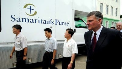 Franklin Graham who promotes gay conversion therapy founded Samaritan's Purse to provide aid in Africa.